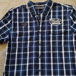 Harley Davidson button up shirt